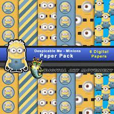 minion gift wrap minions digital pack minion seamless patterns minions gift wrap