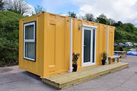 shipping container converted to plush accommodation for homeless