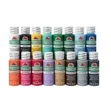 apple barrel multi surface satin acrylic paint 16 color set