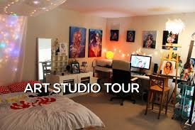 room tour art studio youtube
