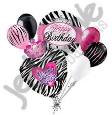 balloon delivery utah 7 pc zebra princess happy birthday balloon bouquet girl
