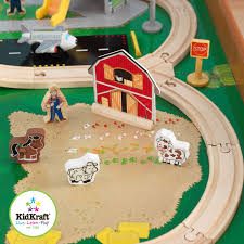 Brio Train Table Set Kidkraft Ride Around Train Set And Table Walmart Com
