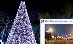 photos of s tree lighting are all kinds of awkward