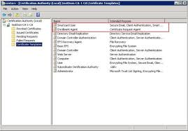 Windows Certificate Templates smart cards creating a windows 2008 certificate authority