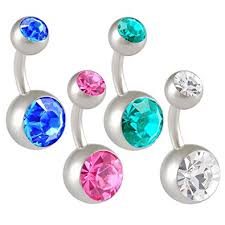 belly button rings 14g 14 1 6mm 1 4 inches