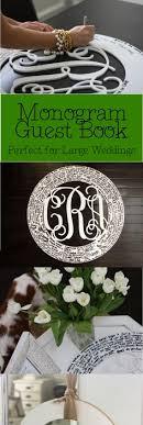 monogram guest book wedding guest book initial letter wedding guest book alternative