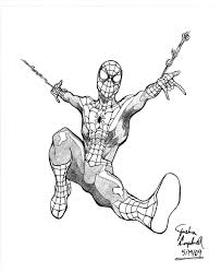 drawn spider man spiderman web pencil and in color drawn spider