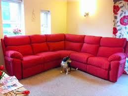 Red Corner Sofa by Quick Sale Scs Vantage Red Manual Recliner Fabric Corner Sofa