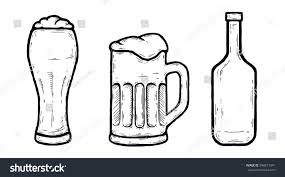 beer vector set hand drawn beer vector illustration stock vector 596871041
