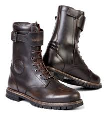 brown motorcycle boots for men stylmartin rocket boots revzilla