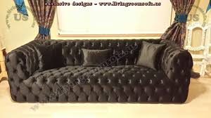 modern chesterfield sofa gray velvet exclusive design ideas