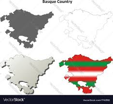 Uae Blank Map by Basque Country Outline Map Set Basque Version Vector Image