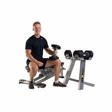 Adjustable Dumbbell Weight Bench Select Adjustable Dumbbell Set W Rack