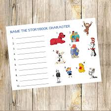 book baby shower game name the storybook character shower