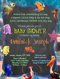 nemo baby shower invitation for baby shower chic finding nemo baby shower