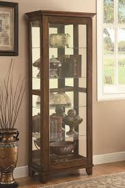 Curio Cabinet With Glass Doors Glass China Cabinet Display Ikea Curio Cabinets Cheap Corner With