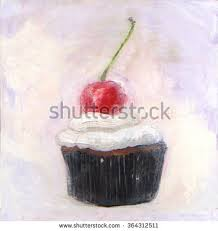 painting cupcake frosted stock images royalty free images