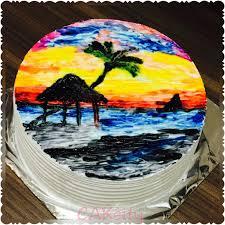 painting on whipped cream cake cake by niki cakesdecor