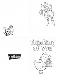 printable coloring cards highlights children