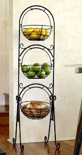 fruit basket stand scroll 3 tier versatile floor basket stand can be used in any