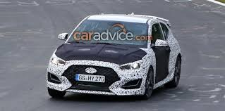 hyundai veloster hyundai veloster n spied with less camouflage