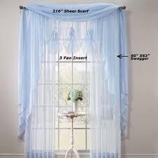 sheer voile extra long panels and scarf curtainshop com