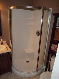 leaking shower door caulking a round corner stand up shower home improvement stack
