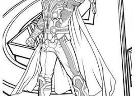 Thor Coloring Pages Coloring4free Com Thor Coloring Page