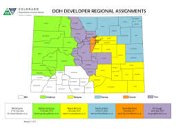 Colorado State Map by Housing Development Specialists Colorado Department Of Local Affairs