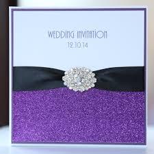 Black Wedding Invitations Purple U0026 Black Glitter Pocket Wedding Invitation Boxed Vintage