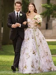 floral wedding dresses mon cheri bridals floral wedding dresses featured on condé nast