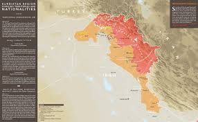 Kurdistan Map Military Situation Syria Iraq U0026 Kurdistan By Lcarabinier 2500