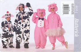 butterick halloween costumes amazon com butterick see u0026 sew 3051 butterick 3051 pig cow