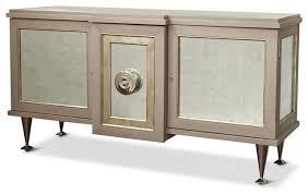 Silver Leaf Nightstand Streep Hollywood Regency Gray Silver Leaf Storage Cabinet