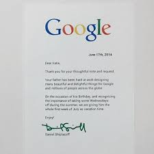 daughter u0027s letter gets google dad a week u0027s vacation for birthday