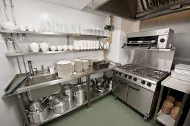 Restaurant Kitchen Layout Design Exellent Restaurant Kitchen Design With Metal Chrome Cabinet