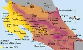 san jose costa rica on map costa rica and temperature costa rica travel map