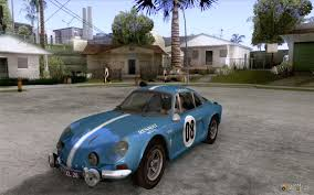 renault alpine classic alpine a110 1600s rally for gta san andreas