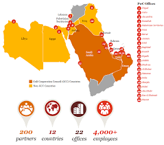 map middle east uk middle east business pwc uk