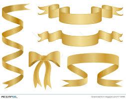 ribbons and bows gold ribbons and bows illustration 7714990 megapixl