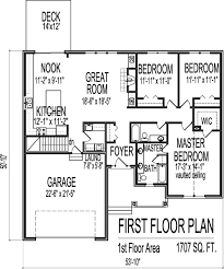 3 bedroom house blueprints shingle style house plans 1 story 1700 square 3 bedroom 2