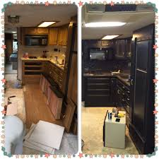 what is the best paint for rv cabinets rv remodel in progress cabinets painted with black chalk