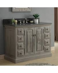 Dark Gray Bathroom Vanity by Spring Savings On Infurniture Rustic Style 48 Inch Single Sink