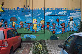 angry germans explain their country s surging right wing movement the facade of the front entrance to the polling place at peter pan elementary school in marzahn hellersdorf