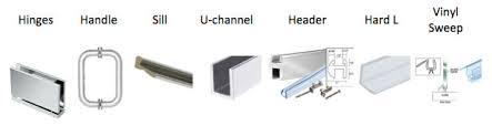 Shower Door Drip Rail And Sweep Frameless Panel Door Panel 72 84 Width 72 Height Showers