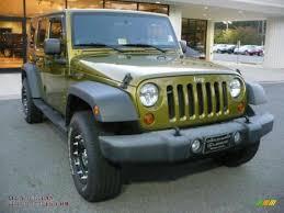 rescue green jeep rubicon 2007 jeep wrangler unlimited x 4x4 in rescue green metallic