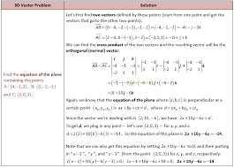 find cartesian equation of a plane given 3 points tessshlo