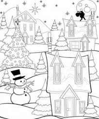 coloring pages winter night winter coloring pages of