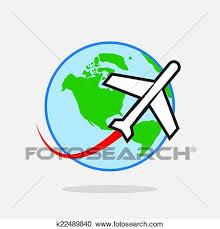 aereo clipart clipart aereo viaggiare intorno mondo k22489840 cerca