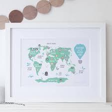 framed world maps for sale